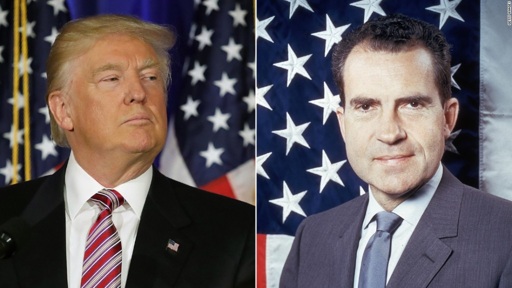 Richard Nixon, Donald Trump, impeachment, crime, crook, i'm not a crook, law and order, conservative, imperial presidency, pardon